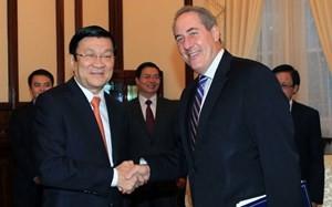 Staatspräsident Truong Tan Sang: Vietnam und die USA wollen TPP-Verhandlungen abschließen - ảnh 1