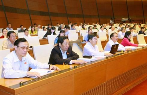 Parlament billigt Gesetz zur Aufsichtsarbeit des Parlaments und der Volkräte - ảnh 1
