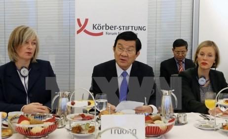 Staatspräsident Truong Tan Sang hält Rede im Körber Institut - ảnh 1