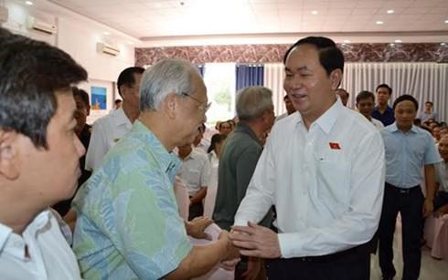 Staatspräsident Tran Dai Quang trifft Wähler in Ho Chi Minh statt - ảnh 1