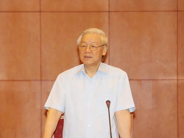 KPV-Generalsekretär Nguyen Phu Trong besucht Laos - ảnh 1