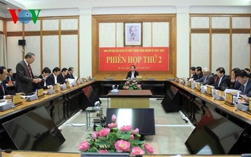 Staatspräsident Tran Dai Quang leitet Sitzung zur Justizreform - ảnh 1