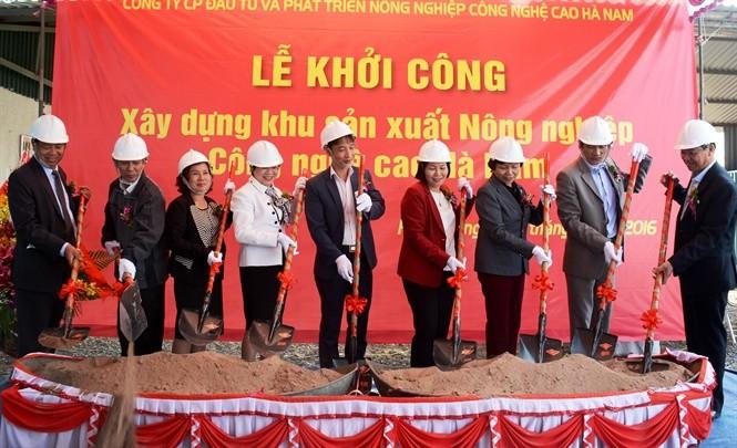 Provinz Ha Nam entwickelt die hochtechnologische Landwirtschaft - ảnh 1