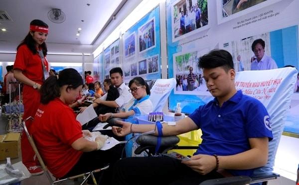 """Programm zur """"Roten Route"""" will 45.000 Bluteinheiten erreichen - ảnh 1"""