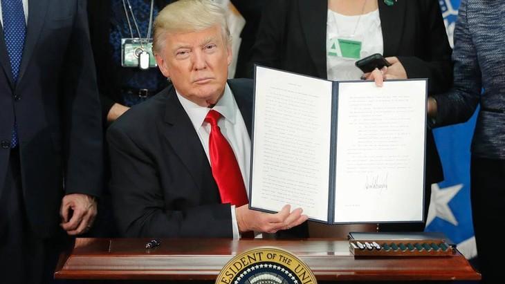 Oberstes US-Gericht bestätigt vorerst Einreiseverbot von Trump - ảnh 1