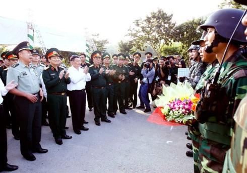 Zusammenarbeit im Militärbereich zur Grenzsicherheit zwischen China und Vietnam - ảnh 1