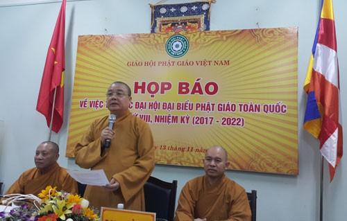 Pressekonferenz zur Vertretervollversammlung der vietnamesischen Buddhisten - ảnh 1