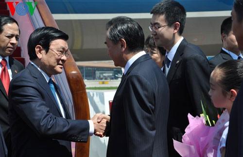ประธานประเทศ เจืองเติ๊นซาง เยือนประเทศจีน - ảnh 1