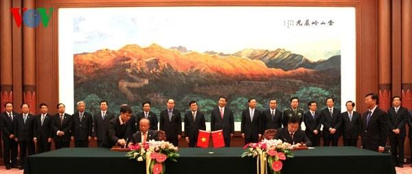เวียดนามและจีนลงนามข้อตกลงความร่วมมือ 10 ฉบับ - ảnh 2