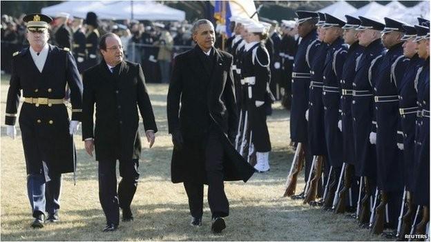ประธานธิบดีสหรัฐและฝรั่งเศสยืนยันถึงความสัมพันธ์พันธมิตรที่ใกล้ชิด - ảnh 1