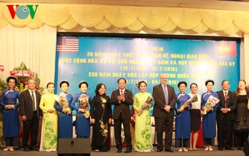 ฉลองครบรอบ 20 ปีการสถาปนาความสัมพันธ์ทางการทูตเวียดนาม-สหรัฐ - ảnh 1