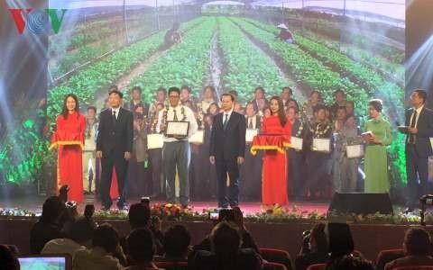 พิธีมอบรางวัลผลงานด้านวรรณกรรมศิลปะเกี่ยวกับการเกษตรและการสร้างสรรค์ชนบทใหม่ช่วงปี 2010-2015 - ảnh 1