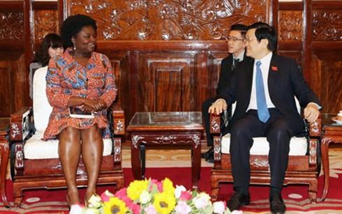 ประธานประเทศ เจืองเติ๊นซาง ให้การต้อนรับผู้อำนวยการธนาคารโลกประจำเวียดนาม - ảnh 1