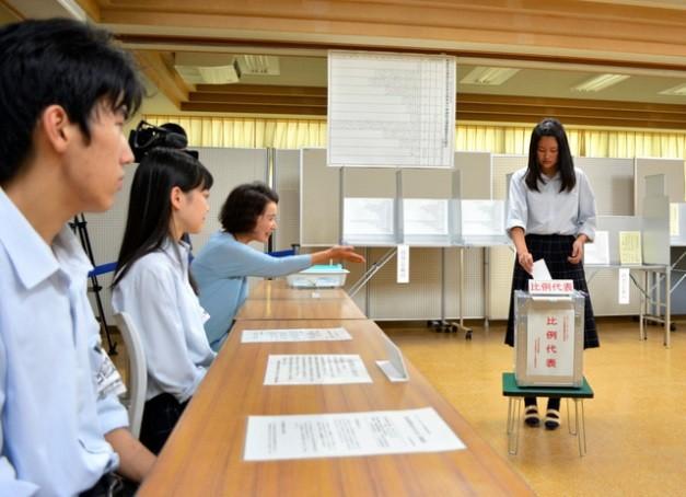 ญี่ปุ่นจัดการเลือกตั้งวุฒิสภา - ảnh 1