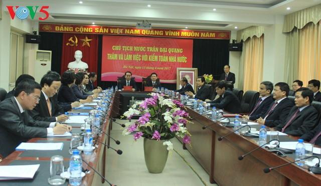 ประธานประเทศ เจิ่นด่ายกวางประชุมกับสำนักงานตรวจเงินแผ่นดิน - ảnh 1