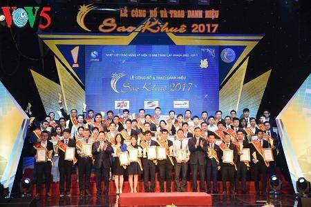 รองนายกรัฐมนตรี หวูดึ๊กดาม เข้าร่วมพิธีมอบรางวัลซาวเคปี 2017 - ảnh 1