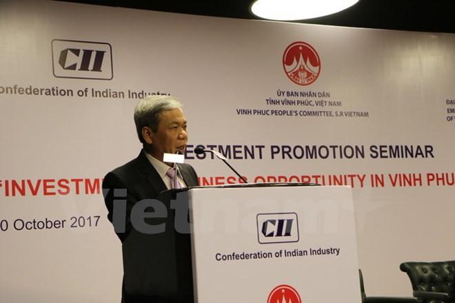 การสัมมนาเกี่ยวกับโอกาสการลงทุนและประกอบธุรกิจของสถานประกอบการอินเดียในจังหวัดหวิงฟุก - ảnh 1