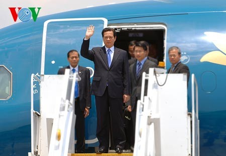 Prime Minister Nguyen Tan Dung arrives in the Philippines - ảnh 1