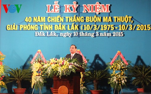 Ceremony marks 40th anniversary of Buon Ma Thuot victory - ảnh 2