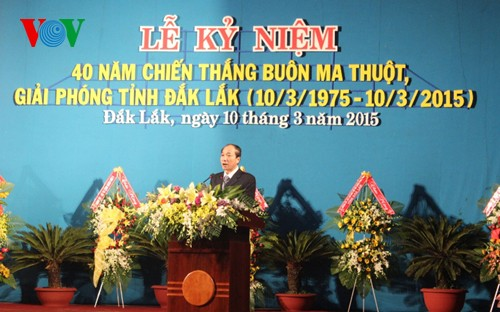 Ceremony marks 40th anniversary of Buon Ma Thuot victory - ảnh 1