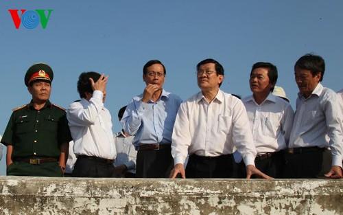 President Truong Tan Sang visits Ninh Thuan - ảnh 1