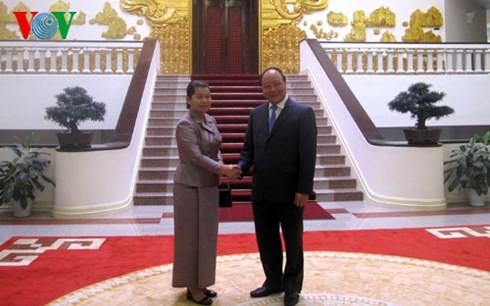 Deputy Prime Minister Nguyen Xuan Phuc receives Cambodia's Deputy PM - ảnh 1