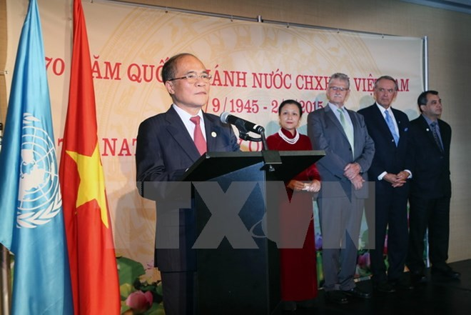 National Assembly chairman hosts banquet to mark Vietnam's National Day - ảnh 1