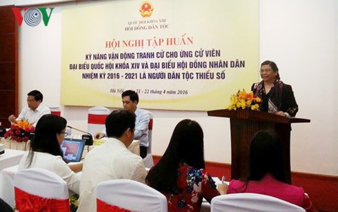 Training on campaigning for ethnic candidates - ảnh 1