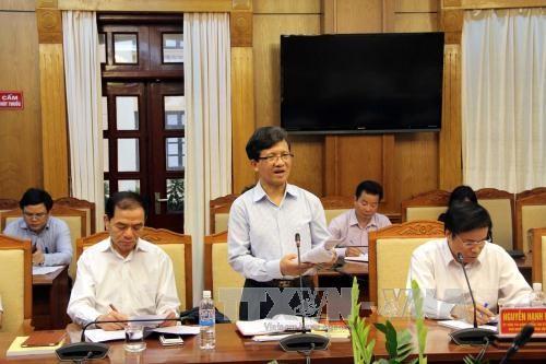 越南国会常委会和国家选举委员会检查监督团与头顿市选举委员会座谈 - ảnh 1