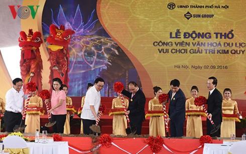越南政府总理阮春福出席河内金龟公园项目动工仪式 - ảnh 1