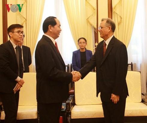 陈大光会见摩洛哥驻越南大使霍辛·法达尼 - ảnh 1