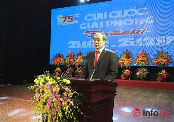 《救国、解放、大团结报》传统日75周年纪念会举行 - ảnh 1