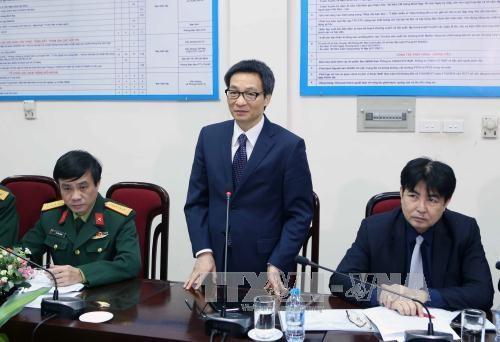 越南政府副总理武德担看望人民军队报干部职工 - ảnh 1