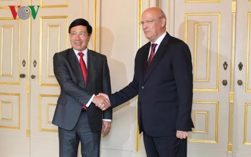越南政府副总理兼外长范平明与葡萄牙外长席尔瓦举行会谈 - ảnh 1