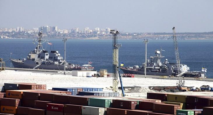 Les militaires US ont démarré la construction d'une base navale US en Ukraine - ảnh 1