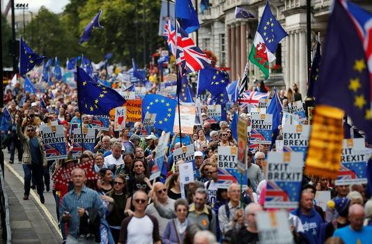 Londres: des milliers de personnes défilent contre le Brexit - ảnh 1