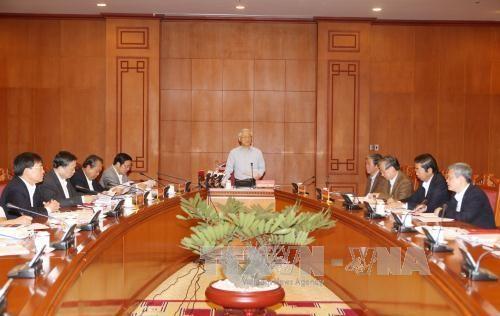 Nguyen Phu Trong préside une réunion sur la lutte anti-corruption - ảnh 1