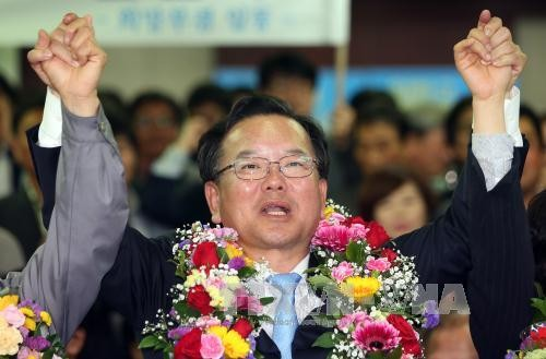 South Korea opposition wins surprise victory in parliamentary elections - ảnh 1