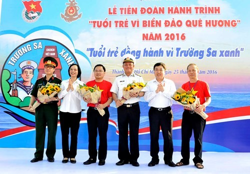 Activities respond to 2016 Youth journey for the homeland's seas and islands  - ảnh 1
