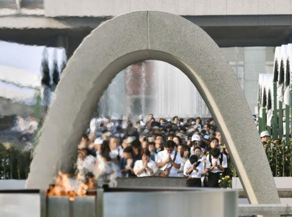Japan marks 71st anniversary of Hiroshima atomic bombing  - ảnh 1