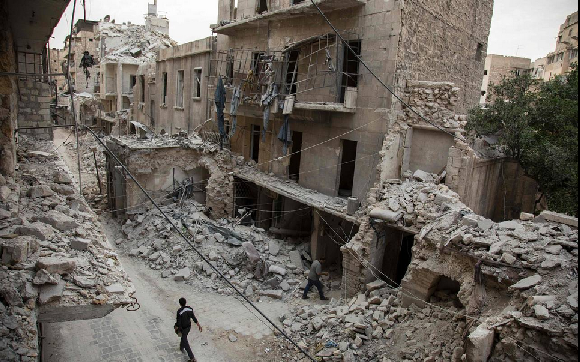 Syrian government increases airstrike against rebels in Aleppo - ảnh 1
