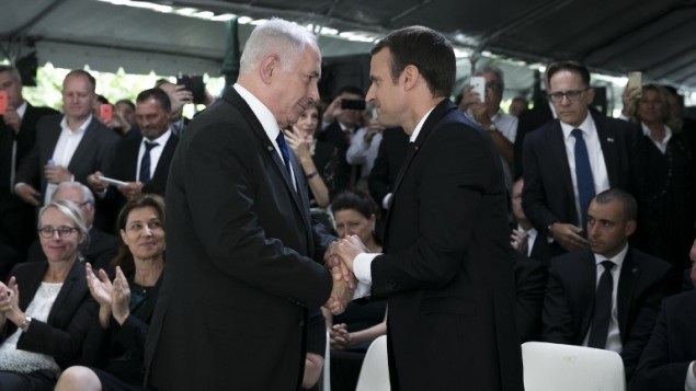 French President urges resumption of Middle East peace talks based on two-state solution - ảnh 1