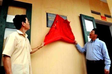 Вице-премьер СРВ Фам Бинь Минь передал провинции Хазянг новую школу для детей из малоимущих семей - ảnh 1