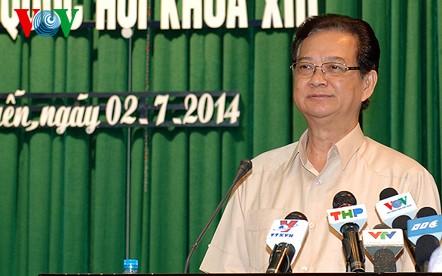 Премьер-министр Нгуен Тан Зунг: Вьетнам никогда не согласится и не смирится с угрозой - ảnh 1