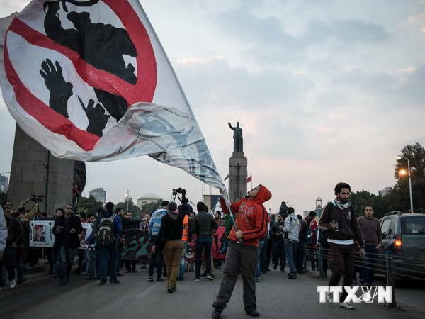 В связи с годовщиной свержения Мурси в Египте прошли демонстрации - ảnh 1