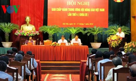 В Ханое открылась 4-ая конференция ЦК Союза вьетнамских крестьян 6-го созыва - ảnh 1