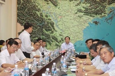 Вице-премьер СРВ Хоанг Чунг Хай потребовал внимательно следить за ходом тайфуна «Раммасун» - ảnh 1