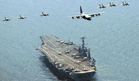 ВМС США, Республики Корея и Японии начали совместные учения - ảnh 1