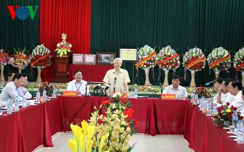 Генсек ЦК КПВ Нгуен Фу Чонг совершил рабочую поездку в провинцию Лангшон - ảnh 2