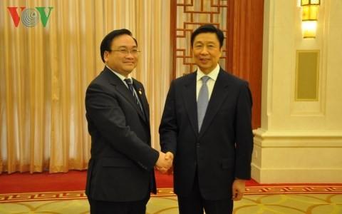 Вице-премьер СРВ Хоанг Чунг Хай встретился с зампредседателя КНР - ảnh 1
